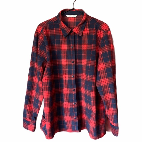 Lee Riders fleece blue & red plaid over shirt